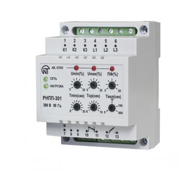 Трехфазное реле напряжения и контроля фаз РНПП-301, 5 A
