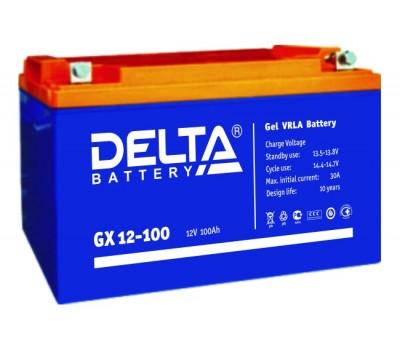 12В Аккумулятор Delta GX 12-100, 100А*ч