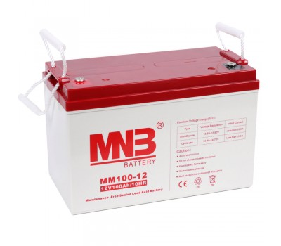 12В Аккумулятор MNB MM 100-12, 100А*ч