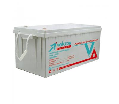 12В Аккумулятор VPbC 12-200, Carbon, 200 А*ч