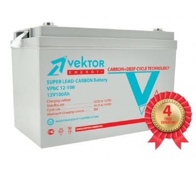 12В Аккумулятор VPbC 12-100, Carbon, 100 А*ч