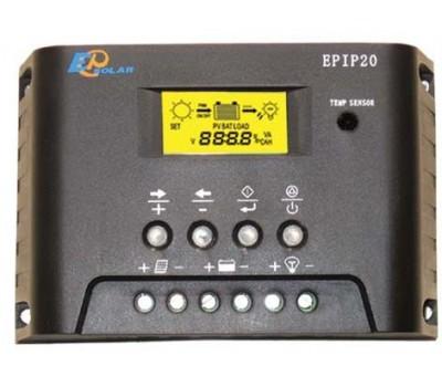 EPSolar EPIP20-LT 12/24В 10А Контроллер заряда с ЖК табло, таймером и часами