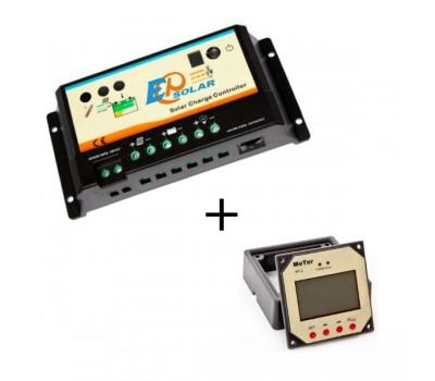 EPIP20-D 10/20А 12/24В Контроллер заряда c выносной панелью индикации