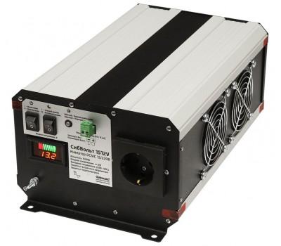 СибВольт 1512У инвертор, преобразователь напряжения DC/AC, 12В/220В, 1500Вт