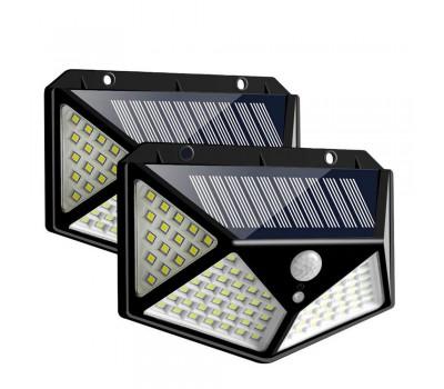 Солнечный фонарь на стену с датчиком движения 100 LED 3 режима работы