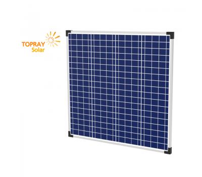 80 Вт TPS107S-80W 12В поли фотоэлектрический модуль, TopRay Solar, Солнечные панели