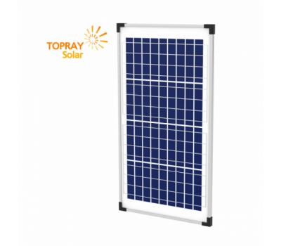 30 Вт TPS107S-30W 12В поли фотоэлектрический модуль, TopRay Solar, Солнечные панели