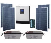 Солнечная электростанция «Эко Оптимальная дача» 3 кВА, 3 кВт*ч энергии