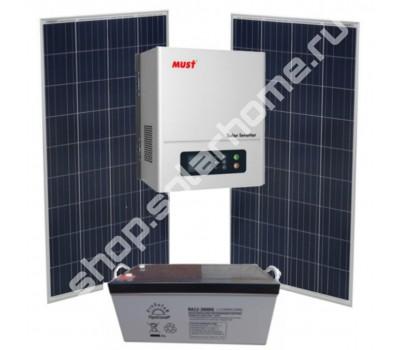 1,5кВа/0.9 кВт, 1.6 кВт*ч - комплект для дачи с солнечными батареями