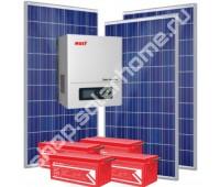 1.2 кВт, 4.6 кВт*ч - комплект для освещения с солнечными батареями