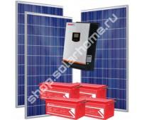 2.4 кВт, 4.6 кВт*ч - комплект с солнечными батареями