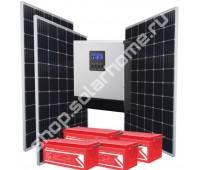 2.4 кВт, 4.7 кВт*ч - комплект для освещения с солнечными батареями