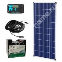 0.6 кВт*ч, 12 В DC, Комплект солнечный для дачи