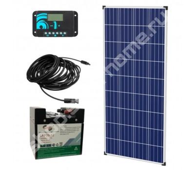 Комплект для дачи 0.8 кВт*ч, 12 В в солнечной батареей и литиевым аккумулятором
