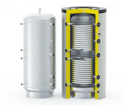 Буферная емкость увеличенной мощности, 2 теплообменника, HFWT DUO 1200