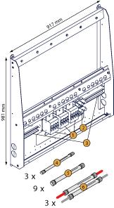 Схема монтажной панели Studer X-Connect